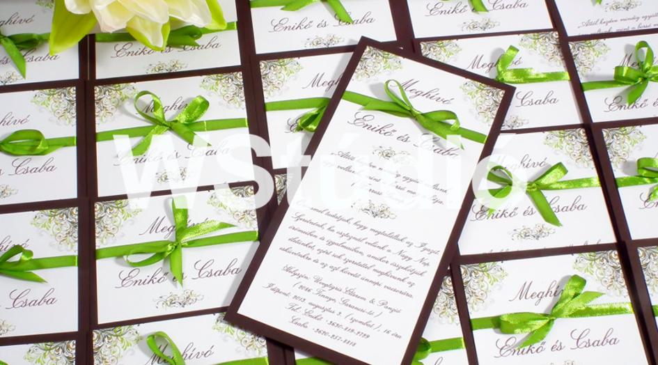 egyoldalas esküvői meghívók